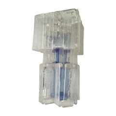 Large Italian clear and blue glass Pendant lamp from Fratelli Toso Murano, 1970s