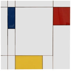 Large Italian 'Piet Mondrian' Wall Mirror by Rimadesio