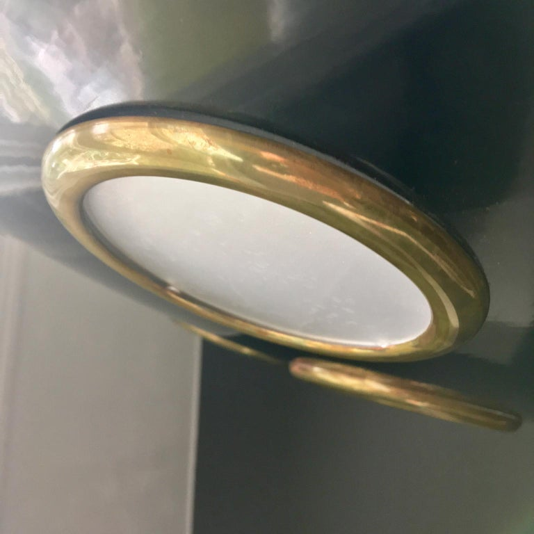 Brass Large Mid-20th Century Italian Saucer Chandelier For Sale