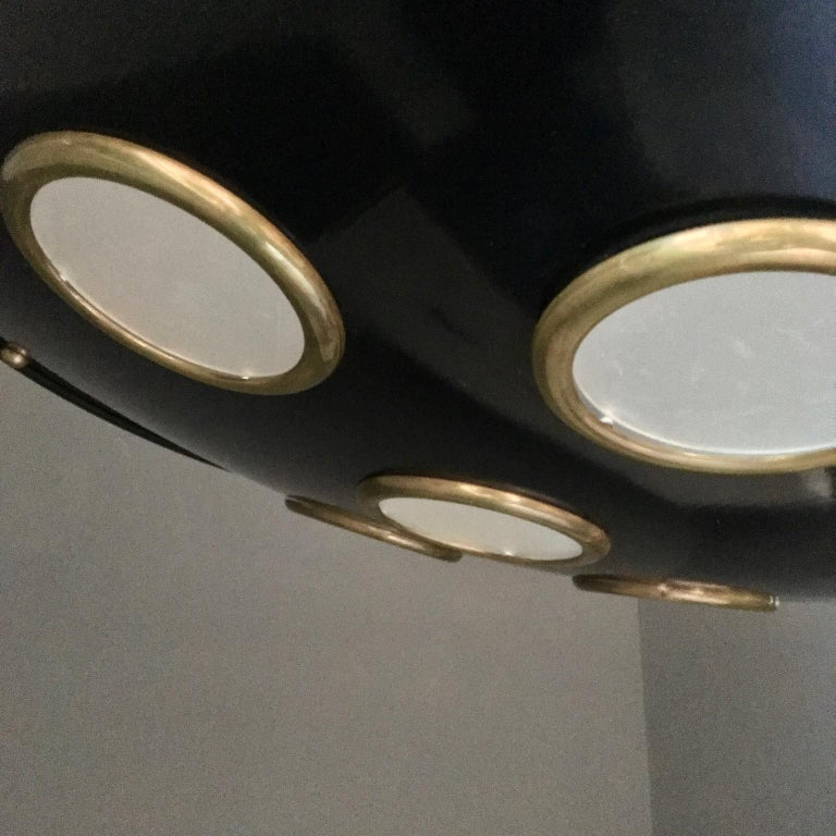 Large Mid-20th Century Italian Saucer Chandelier For Sale 1
