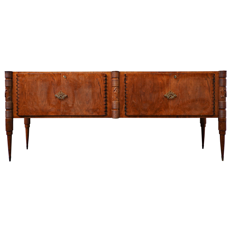 Large Italian Sideboard by Pier Luigi Colli, Ash Wood, 1940s