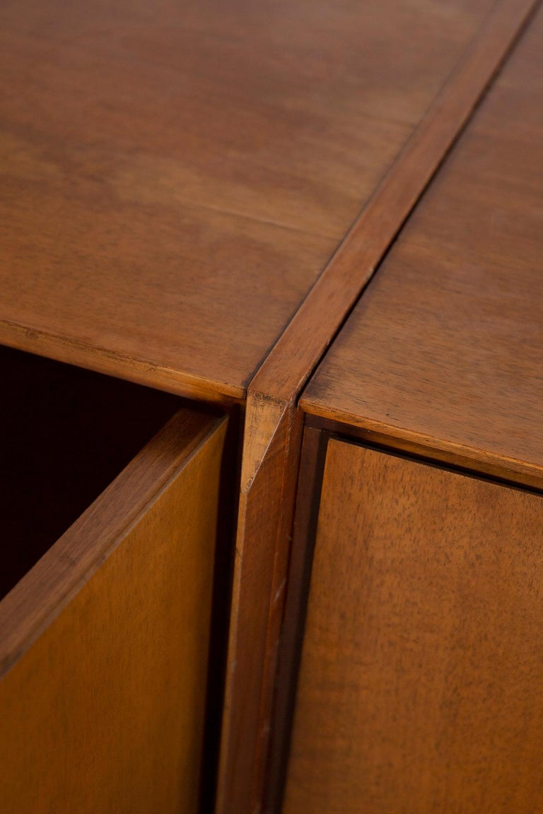 Mid-20th Century Large Italian Sideboard in Walnut from the 1950s For Sale
