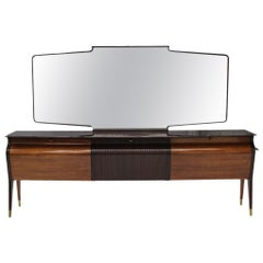 Large Italian Sideboard with Mirror Osvaldo Borsani