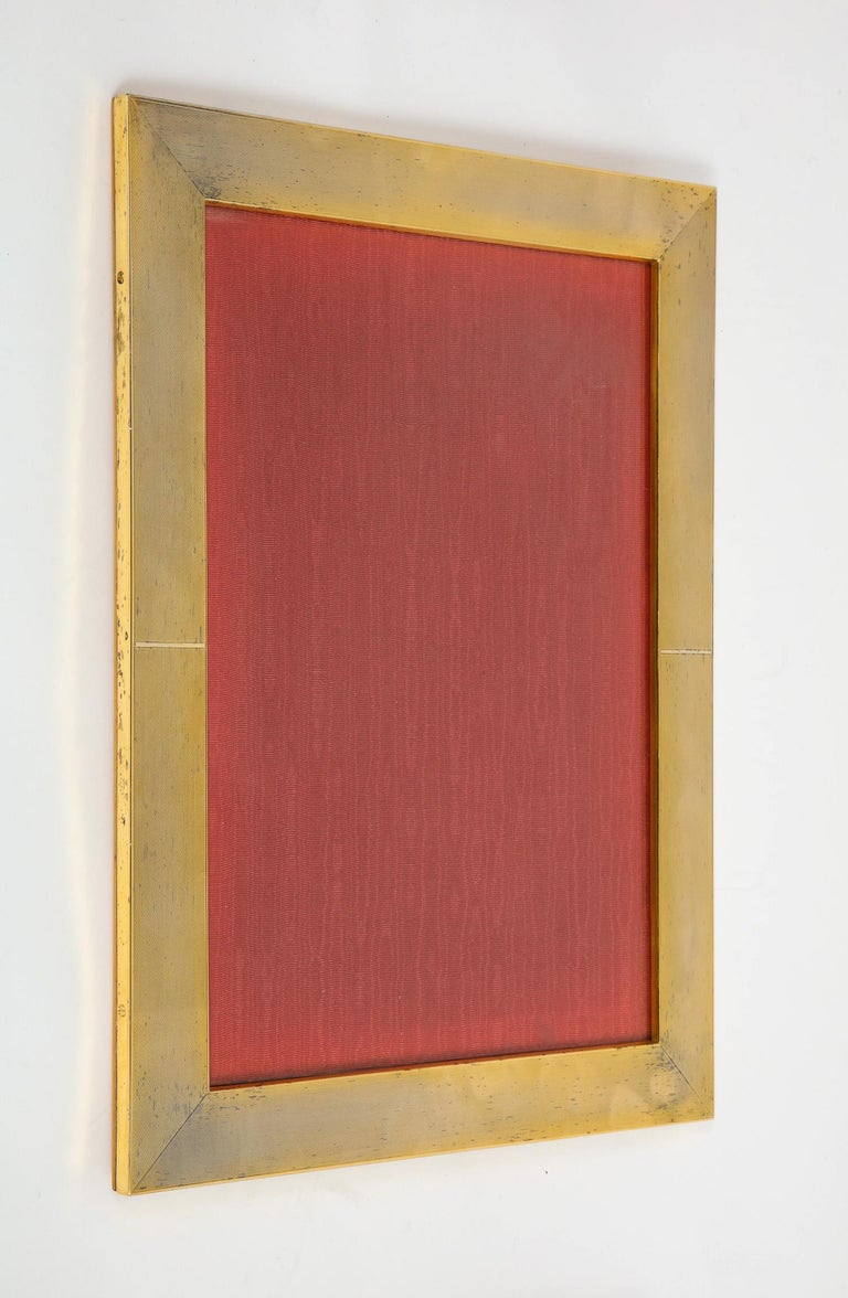 20th Century Large Italian Silver Gilt and Wood Photo Picture Frame For Sale