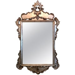 Large Italian Silver Leaf Mirror