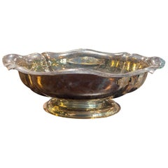 Large Italian Sterling Silver Centerpiece Bowl, 1950s