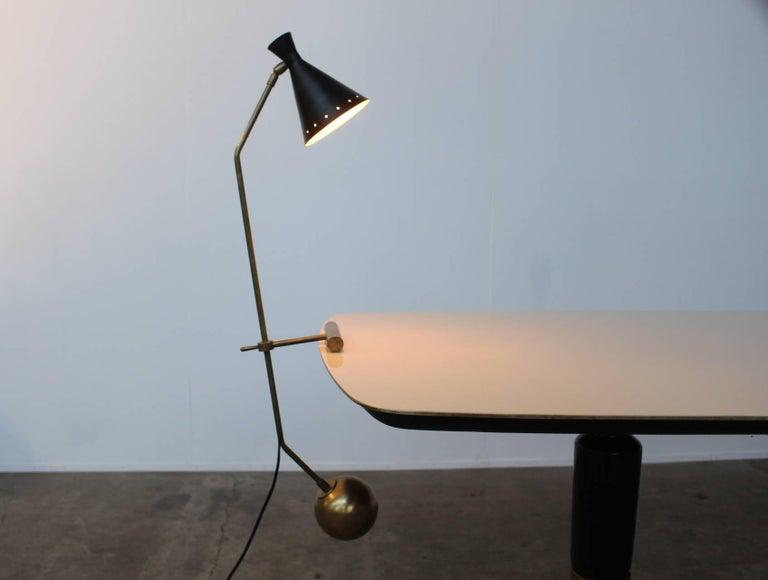 Mid-Century Modern Large Italian Stilnovo Counter Weight Desk Lamp For Sale