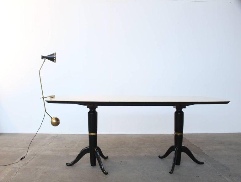Mid-20th Century Large Italian Stilnovo Counter Weight Desk Lamp For Sale