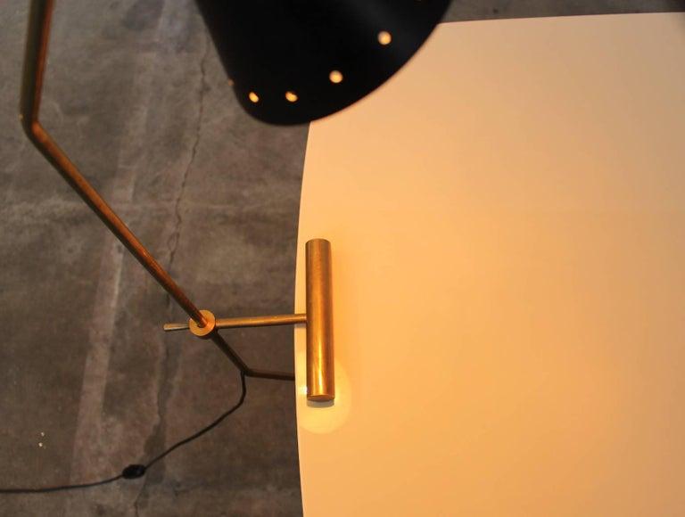 Metal Large Italian Stilnovo Counter Weight Desk Lamp For Sale