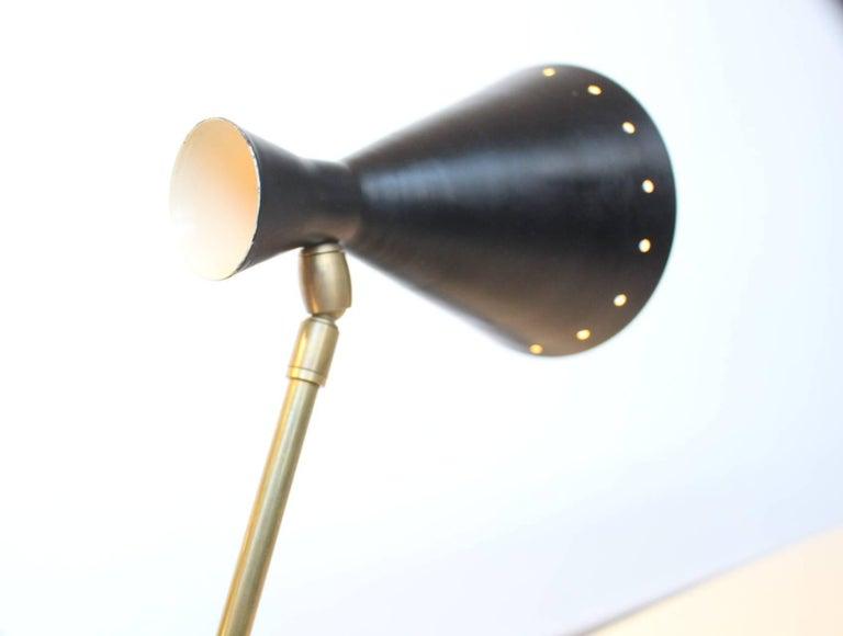Large Italian Stilnovo Counter Weight Desk Lamp For Sale 1