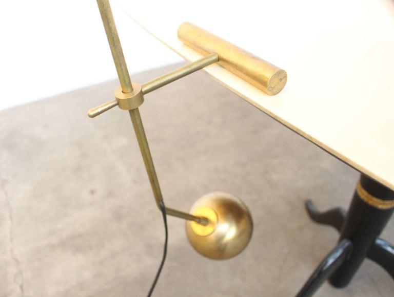 Large Italian Stilnovo Counter Weight Desk Lamp For Sale 2