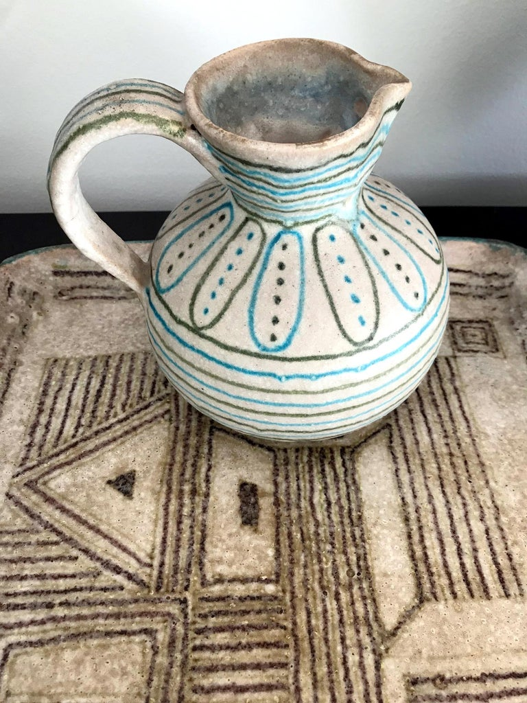Large Italian Stoneware Centerpiece by Guido Gambone For Sale 3