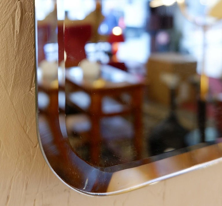 European Large Italian Wall Mirror by Luciano Frigerio, 1960s, 2 Available For Sale