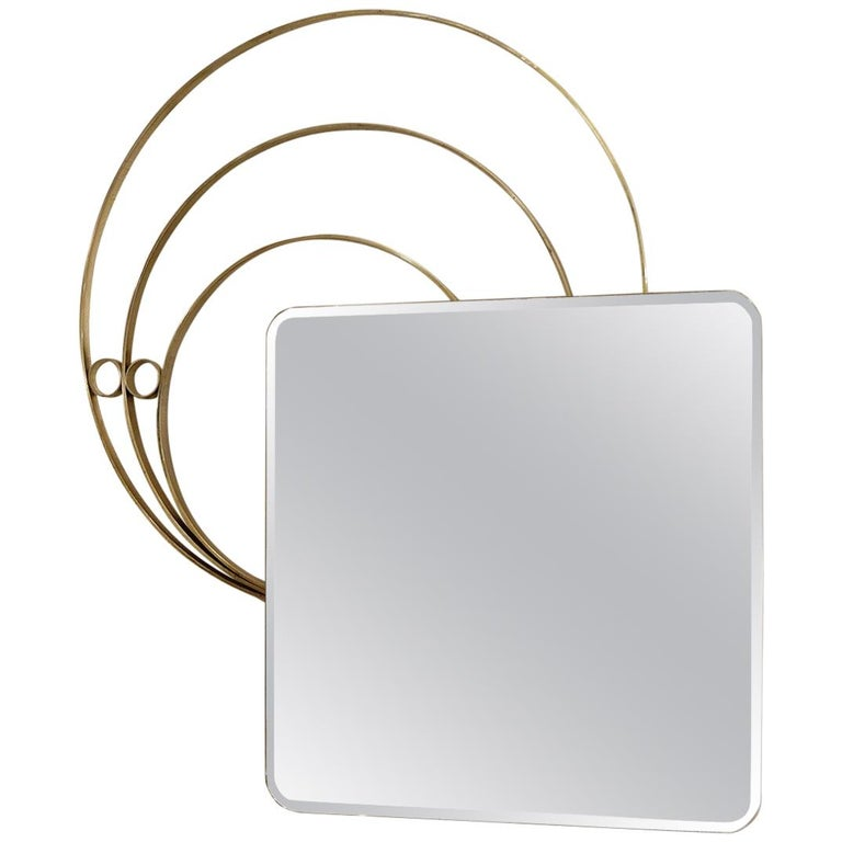 Large Italian Wall Mirror by Luciano Frigerio, 1960s, 2 Available For Sale