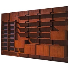Large Italian Wall Unit in Teak