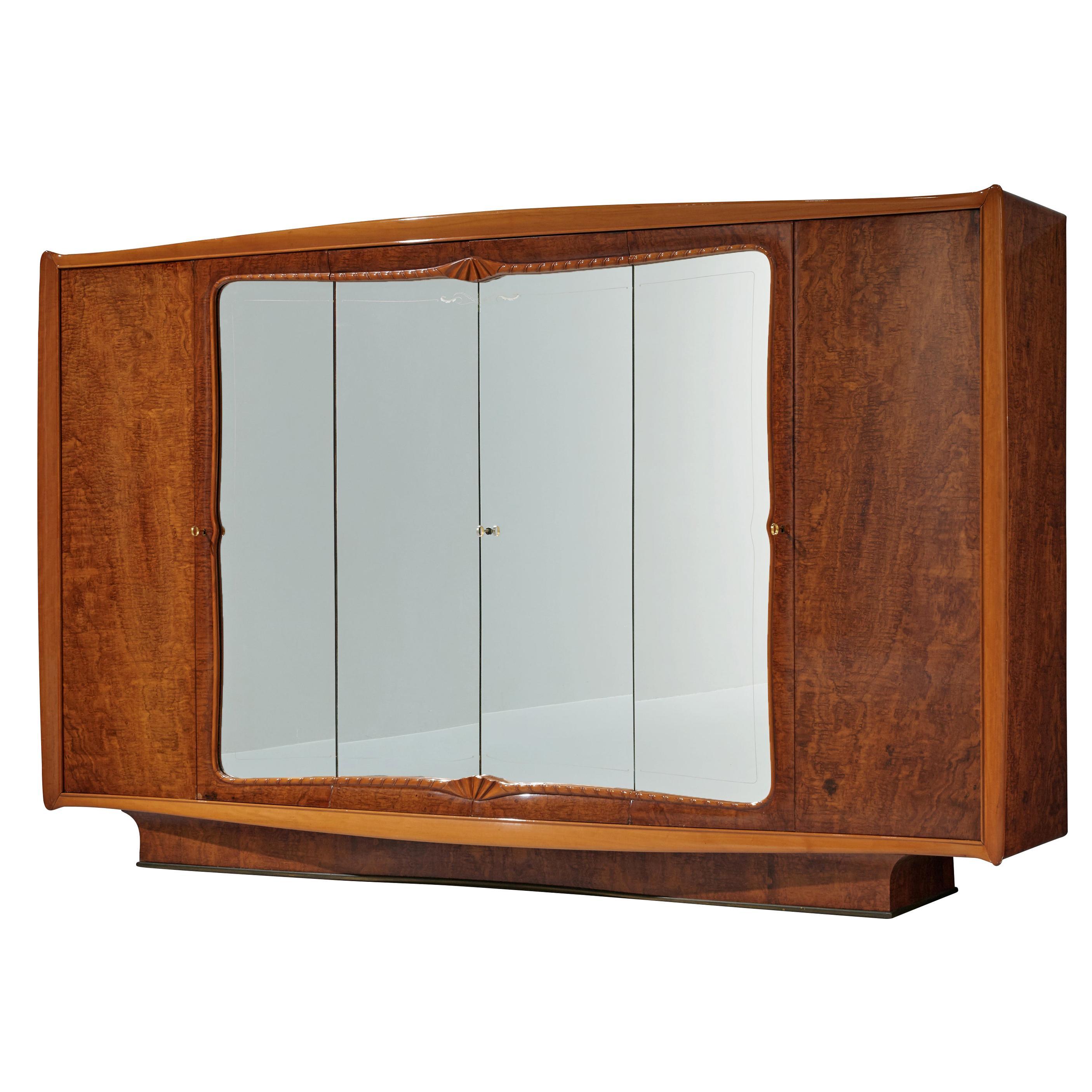 Large Italian Wardrobe with Mirrored Doors
