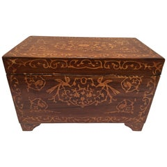 Large Italian Wedding Chest Inlaid with Precious Fruitwood
