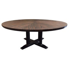 Large Italian Zebra Wood Center Table