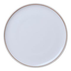 Large Ivory Glazed Porcelain Hermit Plate with Rustic Rim