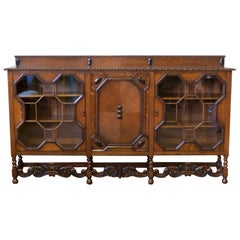 Large Jacobean Style Oak Bookcase