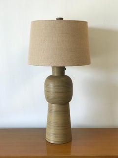 Large Jane and Gordon Martz Ceramic Lamp for Marshall Studios