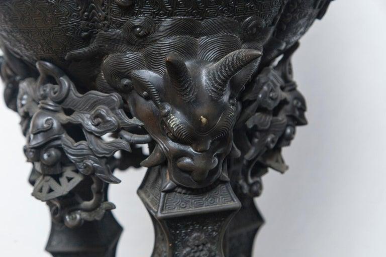 Large Japanese Bronze Koro (incense burner) For Sale 5