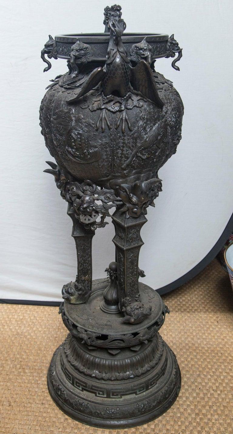 Large Japanese Bronze Koro (incense burner) For Sale 4