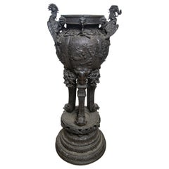 Large Japanese Bronze Koro (incense burner)