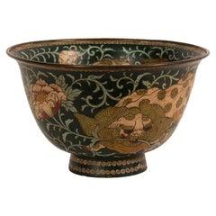 Large Japanese Cloisonné Meiji Bowl