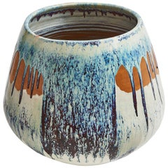 Large Japanese Drip Glaze 20th Century Oxblood Plant Pot