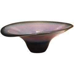 Große handglasierte Keramikvase von zeitgenössischem Meister-Künstler aus Japan