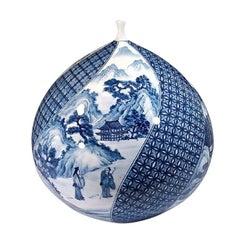 Large Japanese Hand-Painted Imari Contemporary Porcelain Vase by Master Artist
