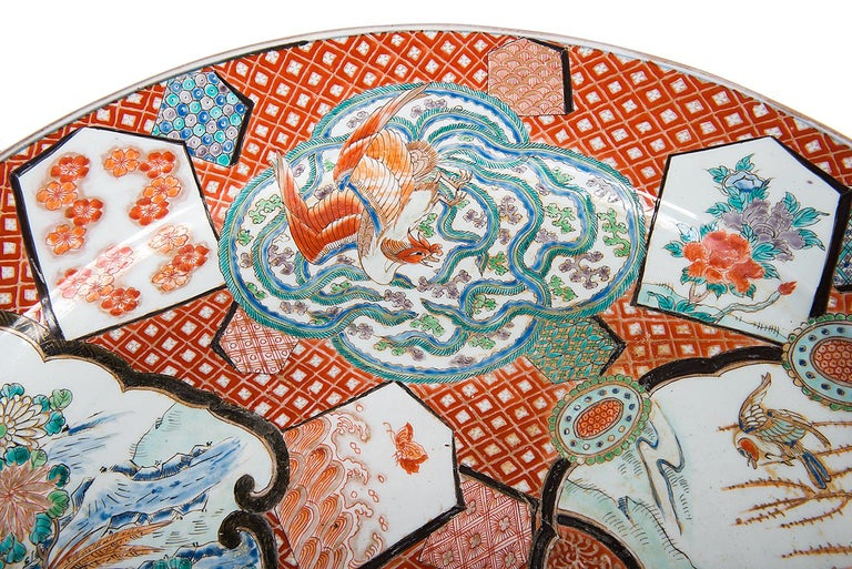 Large Japanese Imari Charger, 19th Century For Sale 1