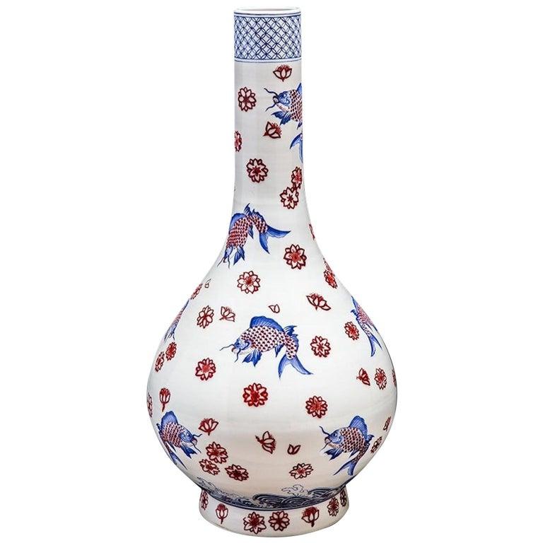 Large Japanese Imari Vase For Sale
