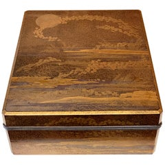 Large Japanese Lacquer Box Early Edo Period Ex-Christie's
