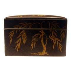 Large Japanese Lacquer Document Box