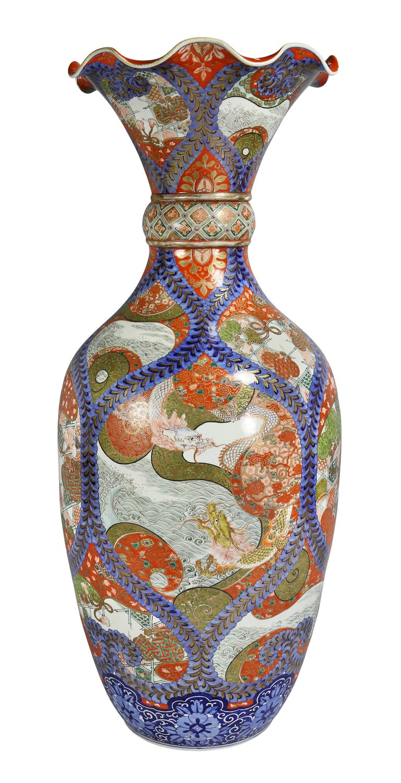 Large Japanese Porcelain Palace Vase For Sale 6