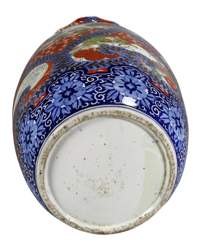 Large Japanese Porcelain Palace Vase For Sale 8