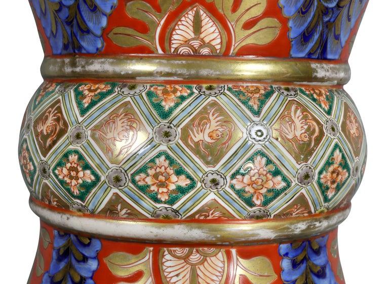 Large Japanese Porcelain Palace Vase For Sale 1