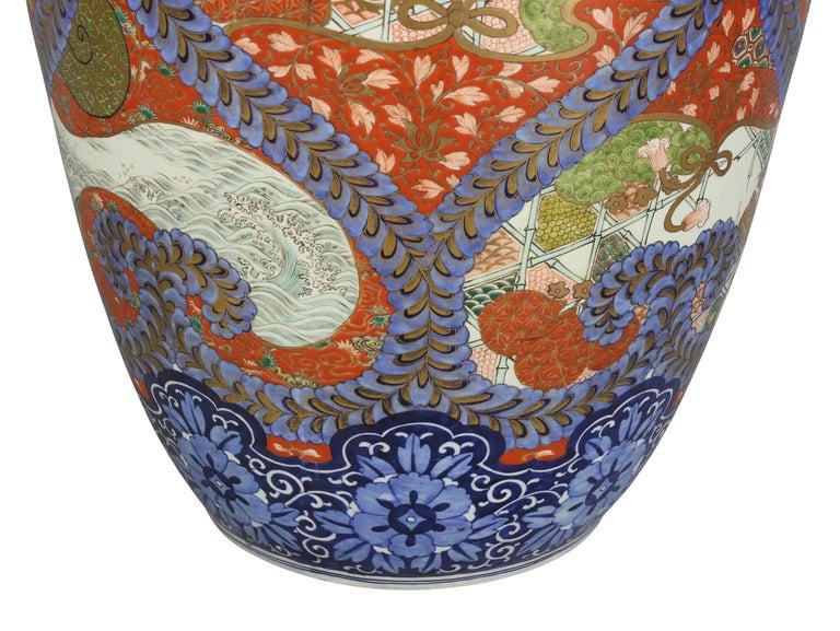 Large Japanese Porcelain Palace Vase For Sale 3