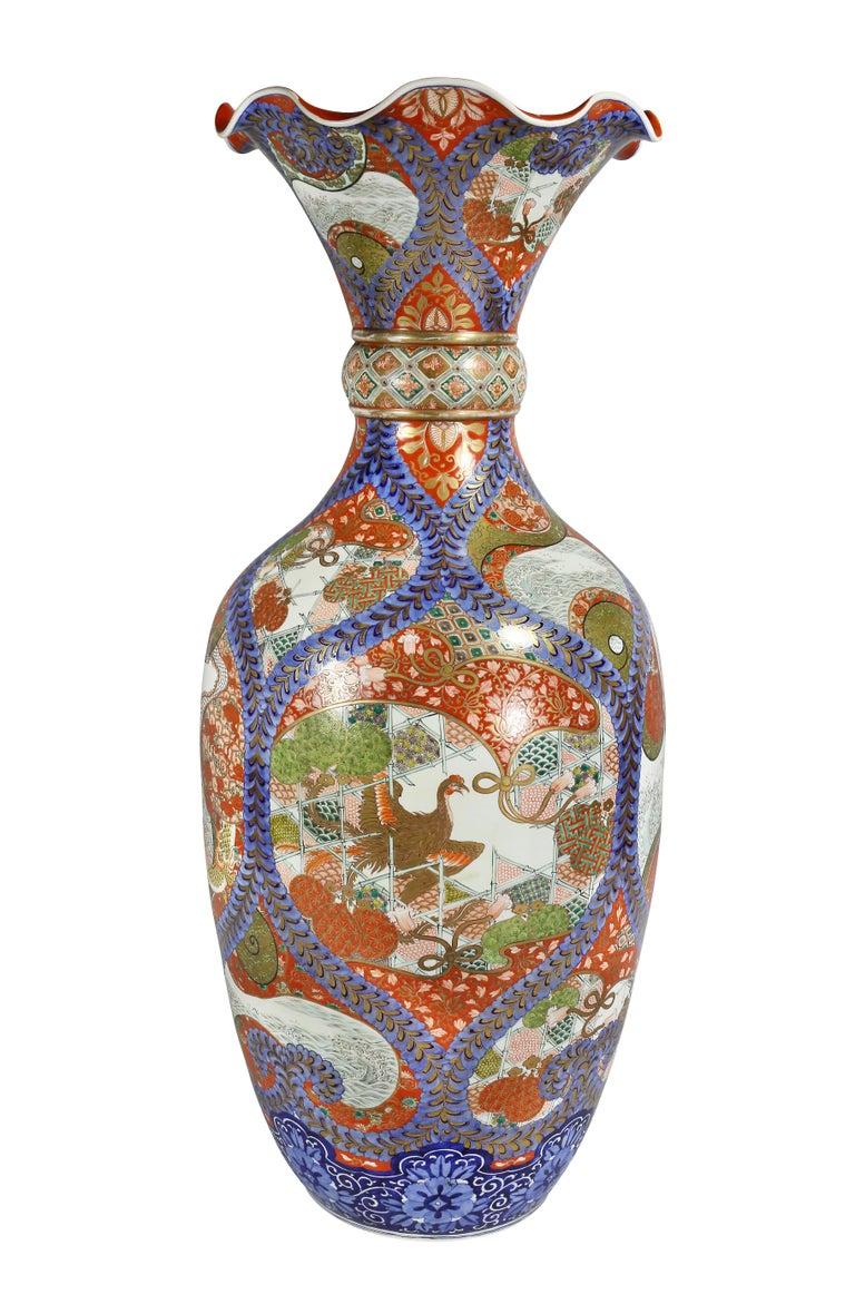 Large Japanese Porcelain Palace Vase For Sale 5