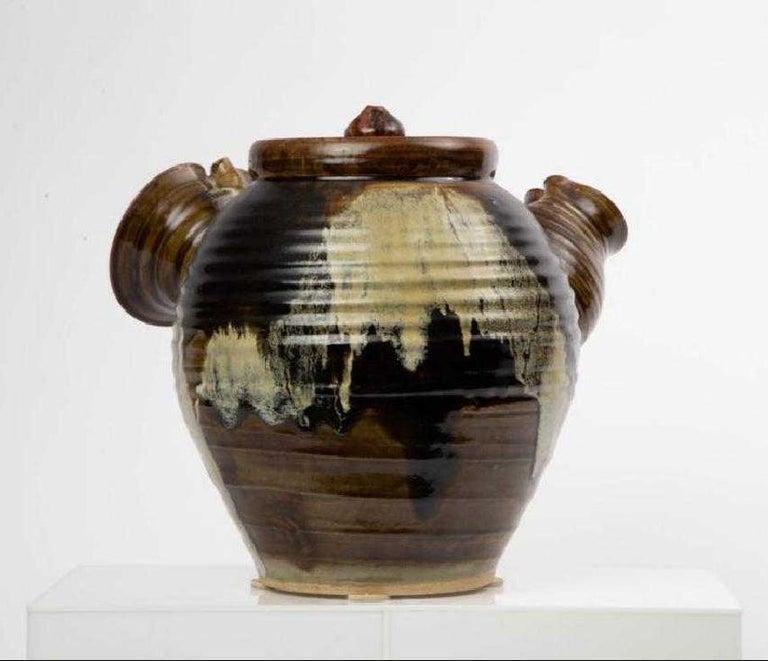 Modern Large Japanese Tea Pot Yokode Kyusu Sculptural Pottery For Sale