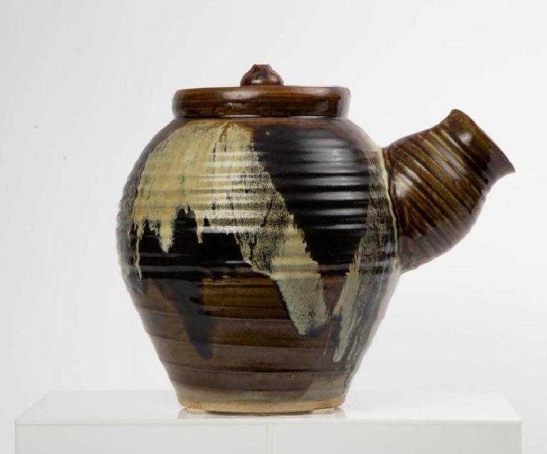 Contemporary Large Japanese Tea Pot Yokode Kyusu Sculptural Pottery For Sale