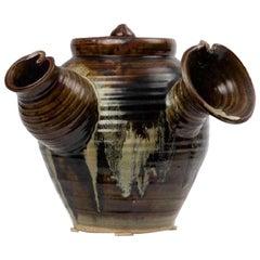 Large Japanese Tea Pot Yokode Kyusu Sculptural Pottery