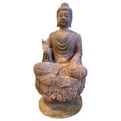 Large Japanese Terracotta Buddha Stature