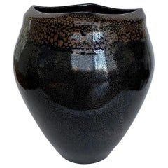 Large Jean Girel Mottled Glazed Ceramic Vase