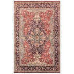 Large Jewel Tone Vintage Persian Tabriz Rug