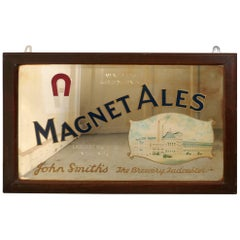 Large John Smith's Advertising Mirror, Pub Mirror for Magnet Ales