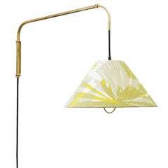 Large J.T. Kalmar Telescopic Brass Wall Light, circa 1950