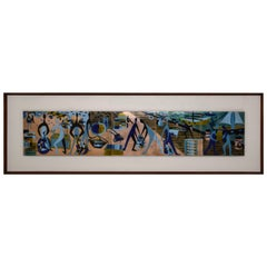 Large Judith Daner Enamel Wall Plaque